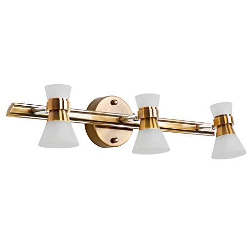 Aplique de Pared Lámpara de pared de metal simple Lámpara de pared de tres cabezas Lámpara de espejo LED Vestidor Lámpara de mesa Baño Lámpara impermeable Brazo giratorio de la lámpara Pantalla acríli