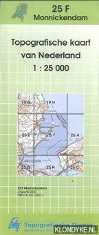 Topografische kaart van Nederland 1:25000: Monnickendam 25-F