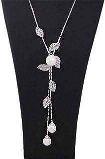 Women's Sweater Chain Tassel Decor Necklace Accessory