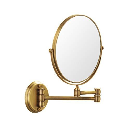 Miroir Cosmétique Salle De Bain 8 Pouces Double Face avec 3X Maquillage Monté sur Un Mur 360° Pivotant Extensible pour Salle De Bain Spa Et De L'hôtellerie