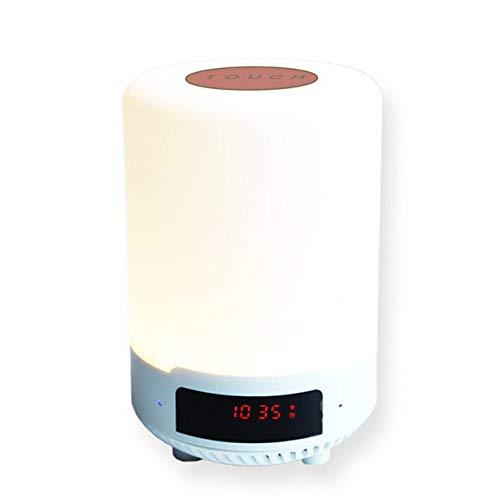 DSHRTY Nachtlicht Bluetooth Nachtlicht Musikbirne Siebenfarbige tragbare drahtlose Lautsprecher-LED-Touch-Control-Nachttischlampe, NO.1