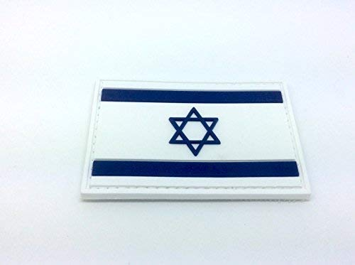 Patch Nation Israel Israelisch Flagge PVC Airsoft Paintball Klett Moral Flicken