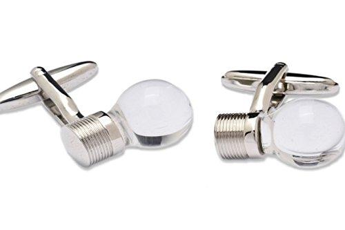 Sologemelos - Boutons De Manchette Ampoule Transparente - Argenté - Hommes - Taille Unique