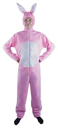 P' Tit Clown–10280–Costume Adulto Coniglio Rosa–Taglia Unica