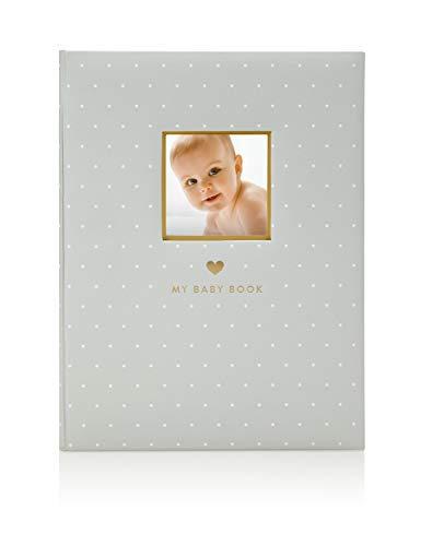 Little Blossoms by Pearhead Little Blossoms Sweet Welcome Keepsake Baby Memory Book, Gray