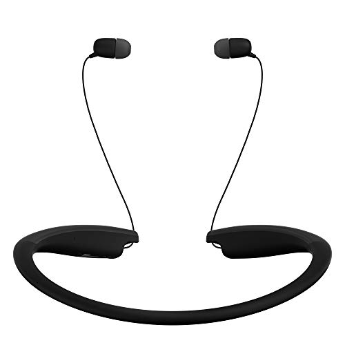 LG Tone Style HBS-SL6S Bluetooth Wireless Stereo Neckband Earbuds Tuned by Meridian Audio, Black