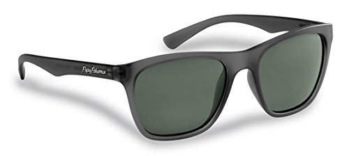 Flying Fisherman Fowey Gafas de sol polarizadas con bloqueador UV AcuTint para pesca y deportes al aire libre, marcos de granito de cristal y lentes ahumadas