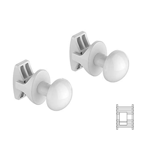 Pareja Handy Grip baño - 2 toalleros para radiadores de baño, se fijan directamente al radiador de baño - Blanco
