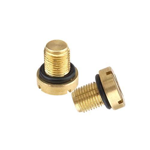 Create Idea - Tornillos de purga para depósito de líquido refrigerante para tapón de rosca para manguera de radiador de coche, 17111712788