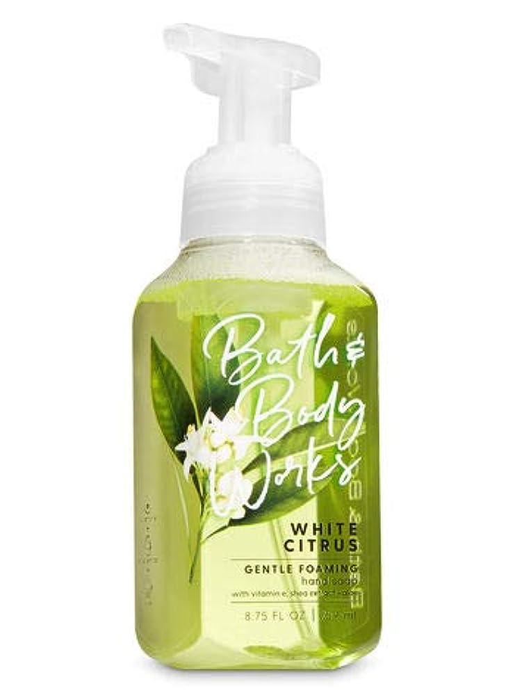 メディック消去抱擁バス&ボディワークス ホワイトシトラス ジェントル フォーミング ハンドソープ White Citrus Gentle Foaming Hand Soap