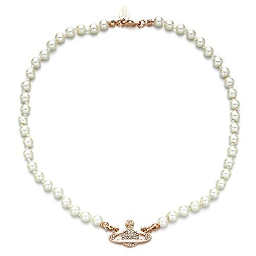 Huachaoxiang Collar con Colgante, Adornos Diamantes de imitación, Perlas de imitación, como una joyería de la Boda, Regalo,Rosado