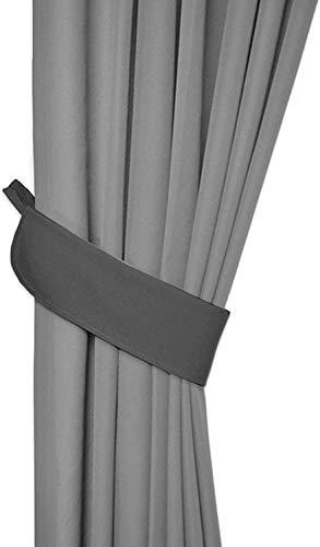 Rollmayer Vorhänge mit Tunnelband Kollektion Vivid (Grafit 33, nur Drapierung) Blickdicht Uni einfarbig Gardinen Schal für Schlafzimmer Kinderzimmer Wohnzimmer
