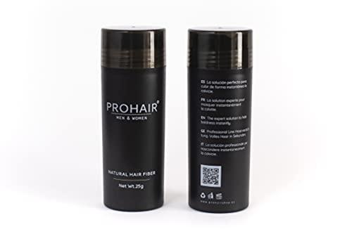 PROHAIR Bote Fibra Capilar 25 gramos 100% natural | 99,80 € 100 gramos | Resultados convincentes e imperceptibles | Fácil de aplicar(Rubio claro)