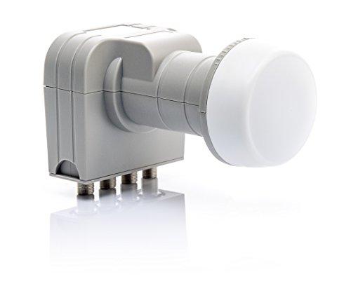 Fuba DEK 406 Quattro LNB HDTV, 3D, 4K, Ultra-HD, Wetterschutz für Multischalter grau