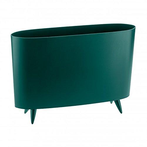 Koziol Milano Zeitschriftensammler, Thermoplast, smaragdgrün