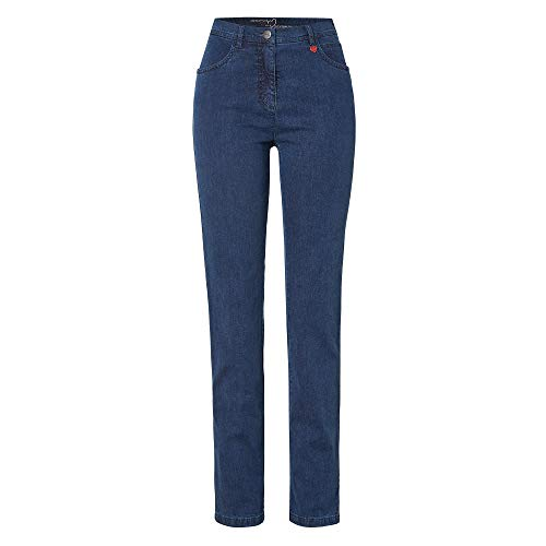Relaxed by Toni 2840-11 Damen Hose 'Meine Beste Freundin' in Five-Pocket-Form, Groesse 46, blau Denim