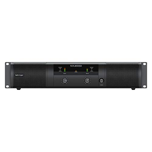 Behringer NX3000 Ultra Lightweight Class D 3000W Power Amplifier includes Free Wireless Earbuds - Stereo Bluetooth In-ear and 1 Year EverythingMusc Extended Warranty