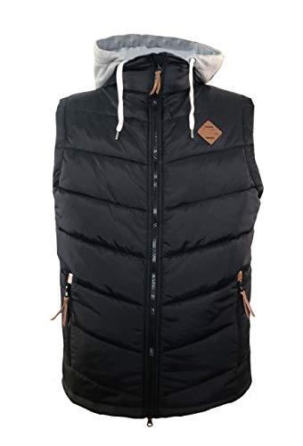 Dry Fashion Herren Weste Eutin Übergangsjacke ärmellos, Farbe:schwarz, Größe:4XL