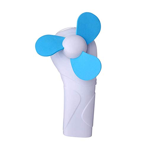 WUJIAN Ventilador Ultra SilenciosoMini Ventilador De Enfriamiento De Verano para Acampar Al Aire Libre, Ventilador Portátil De Mano con Luz LEDViajes (Size:Small; Color:Blue)