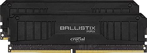 Crucial Ballistix MAX BLM2K8G44C19U4B 4400 MHz, DDR4, DRAM, Memoria Gamer para Ordenadores de sobremesa, 16GB (8GB x2), CL19, Negro