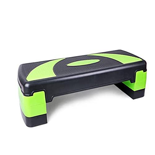 zhengowen Steps De Aerobic Fitness Pedal Gimnasio Ejercicio aeróbico Rhythm Pedal Aerobics Pérdida de Peso Pedal Equipo de Pedal Hogar Pasos Paso aeróbico (Color : Verde, Size : 78x30x20cm)