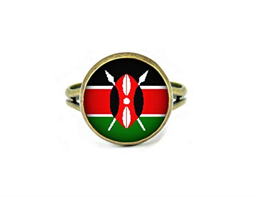 Xubu Nationale Symbool Vlag Sieraden, Kenia Vlag Ringen, Nationale Vlag Ringen
