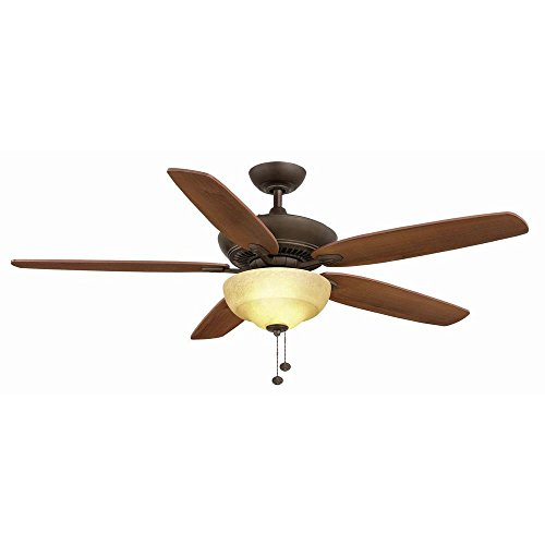 Hampton Bay Langston 60 Inch Indoor Oil-Rubbed Bronze Ceiling Fan with Light Kit