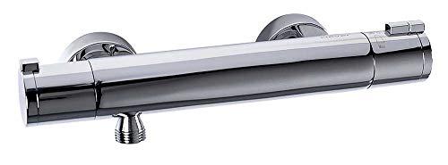 Clever Nine Urban - Grifo ducha termostática, mantiene la temperatura estable, genera confort, sistema anti-quemaduras ColdTouch, incluye teléfono, flexo y soporte a pared