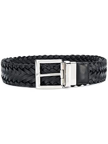 Prada Luxury Fashion Herren 2CM1432AJ9F0002 Schwarz Leder Gürtel | Frühling Sommer 20