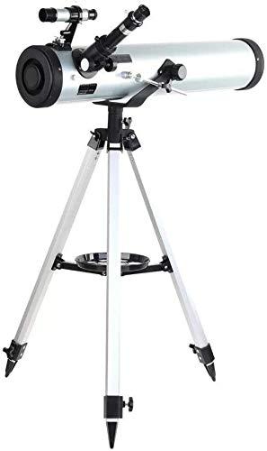 Schützks Telescopios Telescopio astronómico para Exteriores Performance 700-76 Telescopio astronómico Reflector con Montaje azimutal...