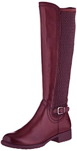Tamaris Damen 1-1-25511-23 Hohe Stiefel, Rot (Bordeaux 549), 40 EU