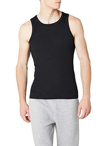 Urban Classics Mens Tanktop Camiseta sin Mangas, Negro (Black 7), M para Hombre