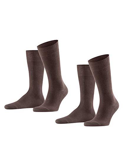 FALKE Herren Swing 2-Pack M SO Socken, Blickdicht, Braun (Brown 5930), 43-46 (2er Pack)