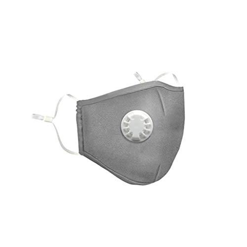 IHEHUA Unisex Face Halstücher Mundschutz mit Filtertasche 2 Filters Waschbar Kälteschutz Multifunktionstuch Bandana Schal (AB-1Stück+2Filter)