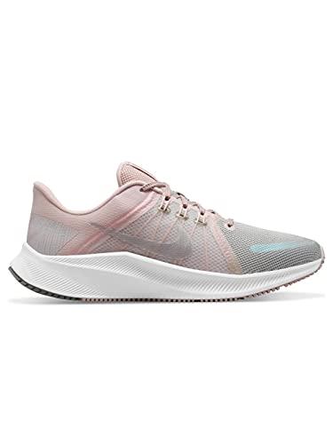 Nike Quest 4 Premium, Zapatillas para Correr Mujer, Thunder Blue Wolf Grey Black, 36 EU