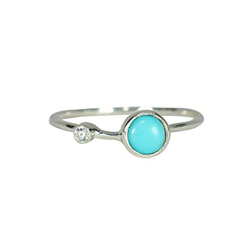 Pura Vida Turquoise Double Stone Ring Size 6 - .925 Sterling Silver Ring