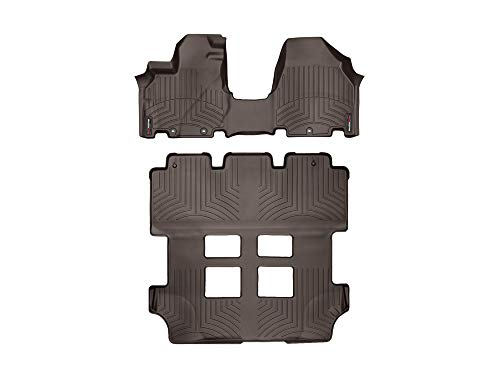 WeatherTech Custom Fit FloorLiner for Honda Odyssey - 1st Row Over The Hump, 2nd, 3rd Row (Cocoa)