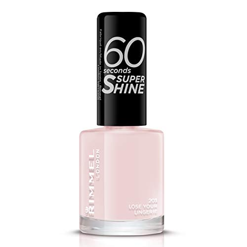 Rimmel - Vernis à Ongles 60 Seconds Super Shine - Ultra Brillance et Longue Tenue - Séchage rapide - Lose Your Lingerie - 8ml