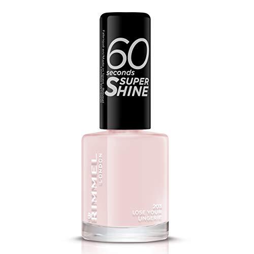 Rimmel - Vernis à Ongles 60 Seconds Super Shine - Ultra Brillance et Longue Tenue - Séchage Rapide - Lose Your Lingerie - 8ml