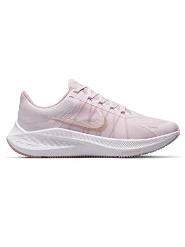 Nike Wmns Winflo 8, Zapatillas para Correr Mujer, Lt Violet Mtlc Red Bronze Champagne White, 38 EU