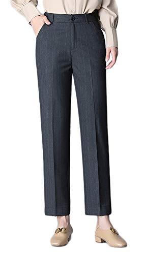XZYP Damen Anzugshose mit dicken Teilen, groß, lose gerade XXXXXX-Large Dunkelgrau