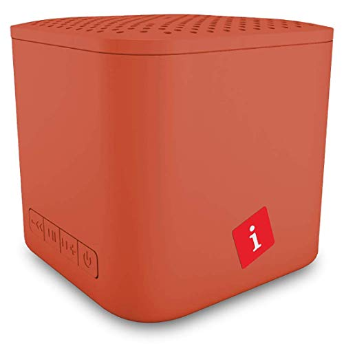 iBall Musi Cube X1 Wireless Ultra-Portable Bluetooth Speakers with FM | Micro SD Card Slot & Built-in Mic (Burnt Orange)