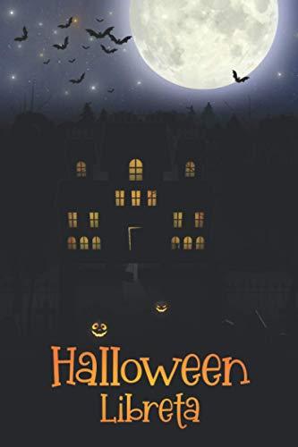 Halloween Libreta: Cuaderno divertido de rayas con fantásticos diseños temáticos de Halloween |120 paginas | formato 15,2 x 22,8 cm (6x9 in)