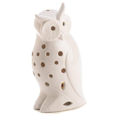 Gifts & Decor Cadeaux et Blanc décor Chouette Oiseau Photophore Bougeoir Luminaire d'extérieur