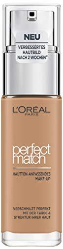 L'Oréal Paris Perfect Match Make-up 7.D/7.W Golden Amber, flüssiges Make-up, für einen natürlichen Teint, mit Hyaluron und Aloe Vera