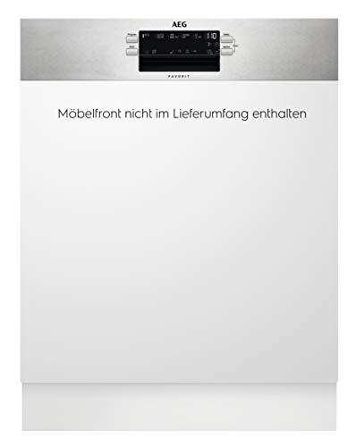 AEG FES5392AZM Integrierter-Geschirrspüler / 60cm / AirDry - ideale Trocknungsergebnisse/Effizienzklasse D/energiesparend/MaxiFlex Besteckschublade /Beladungserkennung/Startzeitvorwahl/Wasserstopp