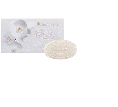 Bronnley Orchid Triple Milled Fine English Soap 3 x 100g