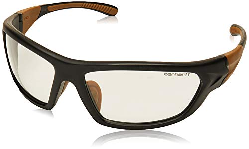 Carhartt Carbondale Safety Glasses with Clear Anti-fog Lens Black/Tan...