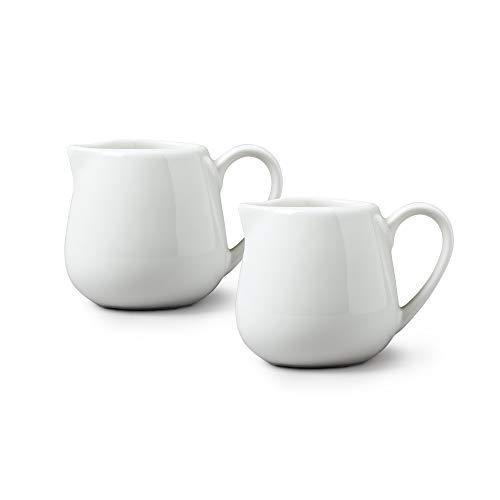 WM Bartleet & Sons 1750 TSET18 Milchkännchen, Porzellan, 80 ml, Weiß, 2 Stück