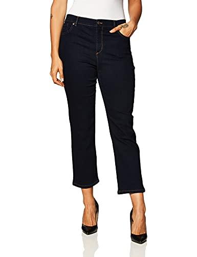 GLORIA VANDERBILT Women's Size Amanda Classic High Rise Tapered Jean, Rinse Noir, 18 Plus Regular